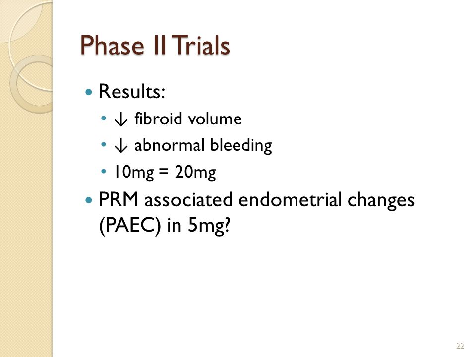 Phase II Trials Results: