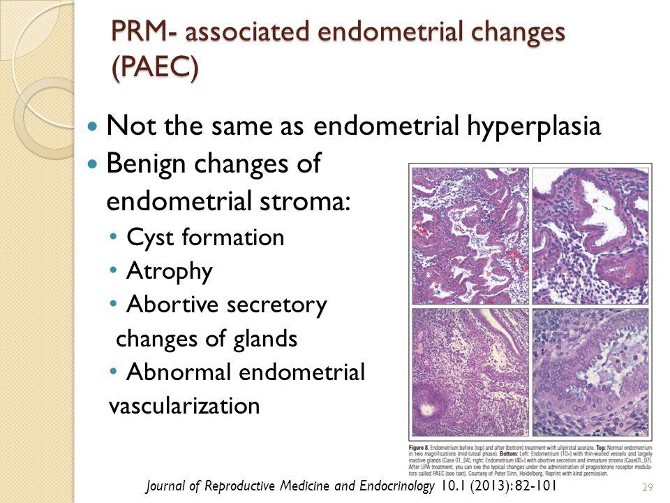 PRM- associated endometrial changes (PAEC)