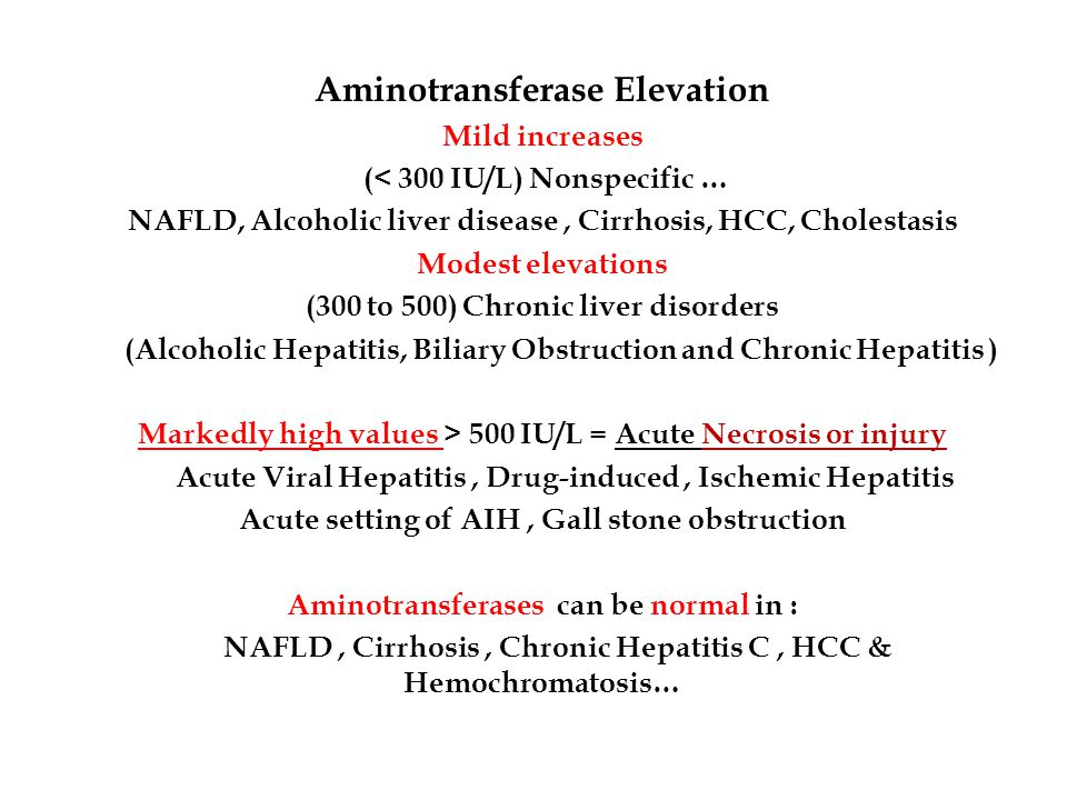 Aminotransferase Elevation
