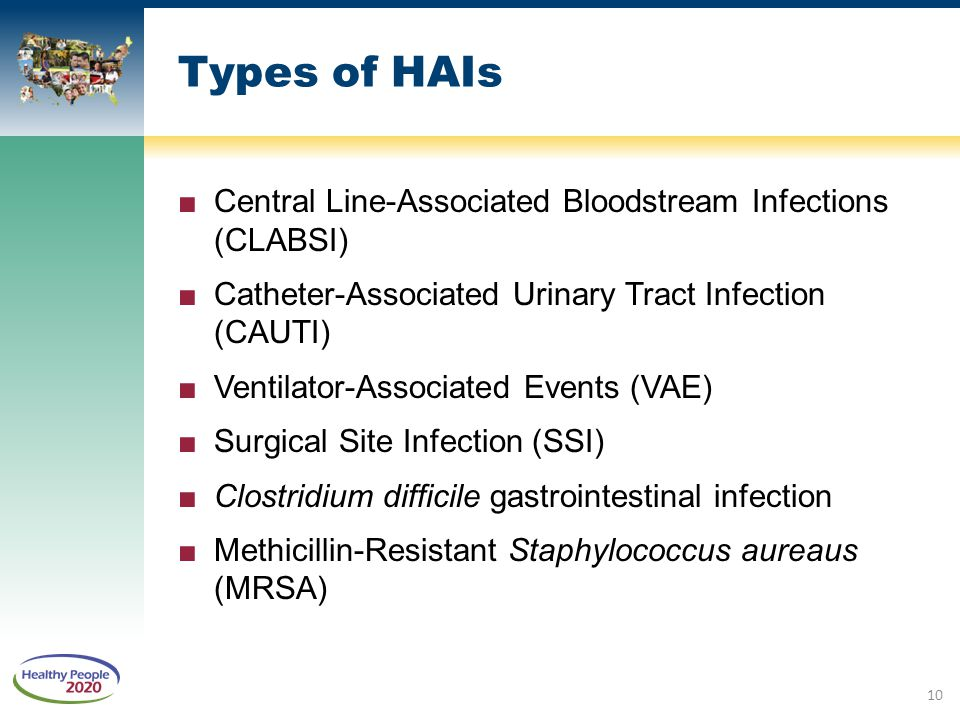 Types of HAIs Central Line-Associated Bloodstream Infections (CLABSI)