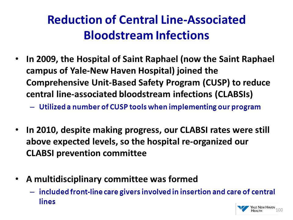 Reduction of Central Line-Associated Bloodstream Infections