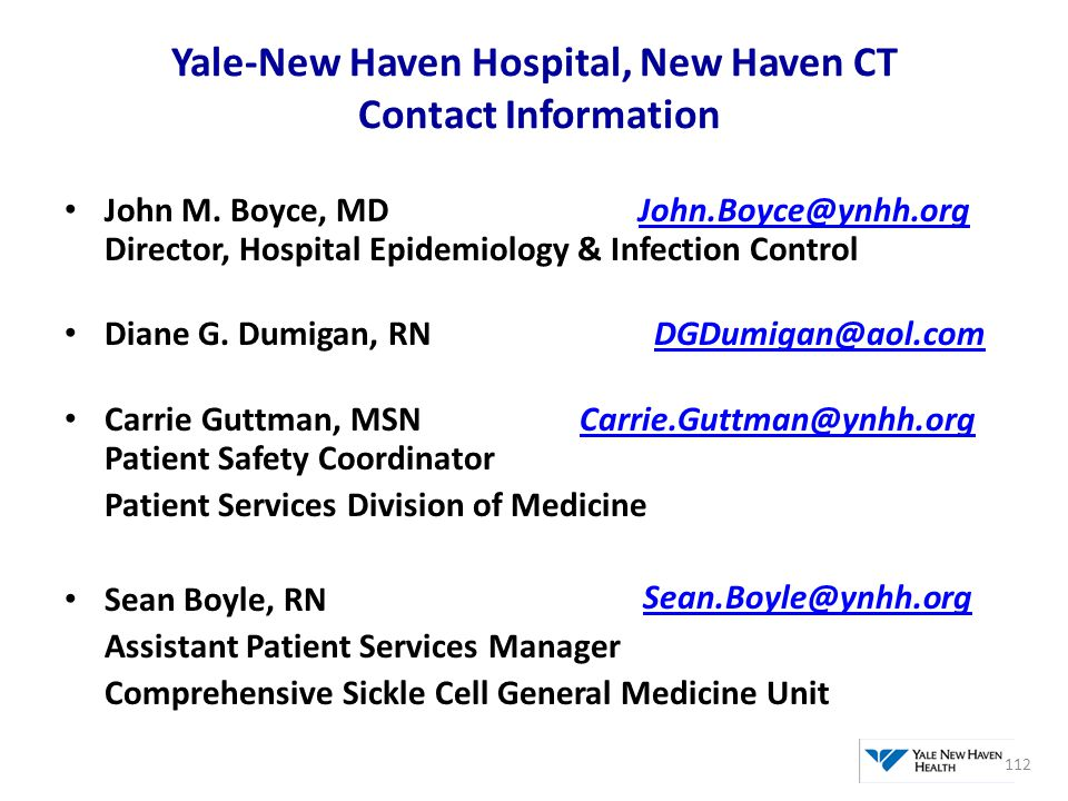 Yale-New Haven Hospital, New Haven CT Contact Information