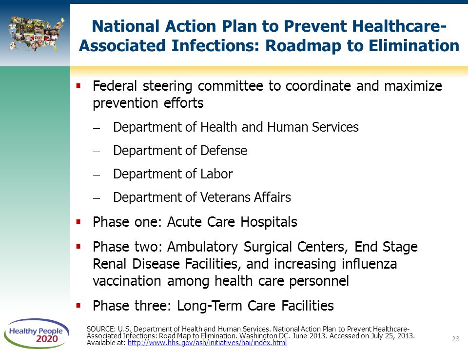 National Action Plan to Prevent Healthcare-Associated Infections: Roadmap to Elimination