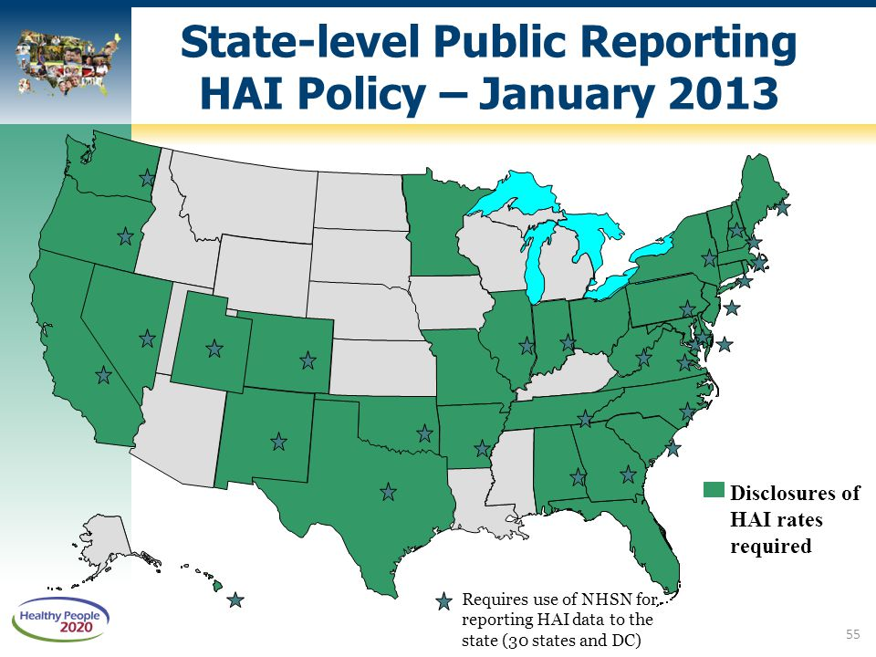 State-level Public Reporting HAI Policy – January 2013