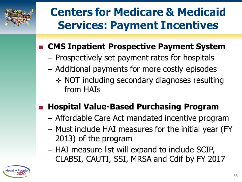 Centers for Medicare & Medicaid Services: Payment Incentives