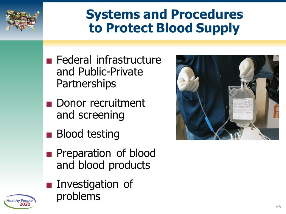Systems and Procedures to Protect Blood Supply