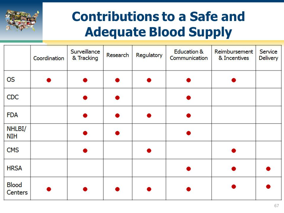 Contributions to a Safe and Adequate Blood Supply
