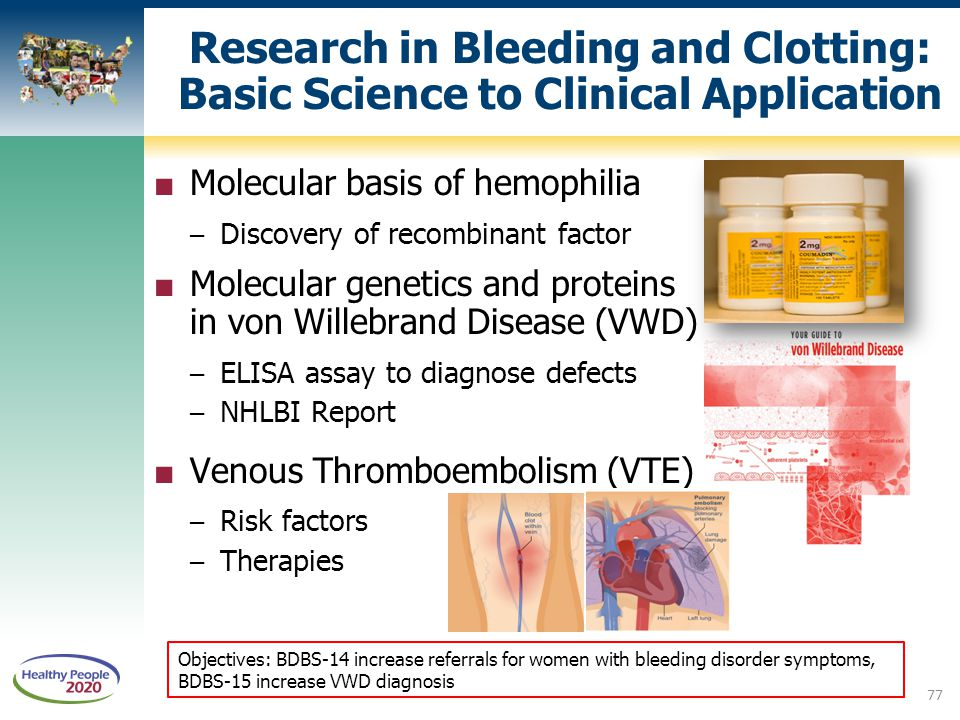 Research in Bleeding and Clotting: Basic Science to Clinical Application