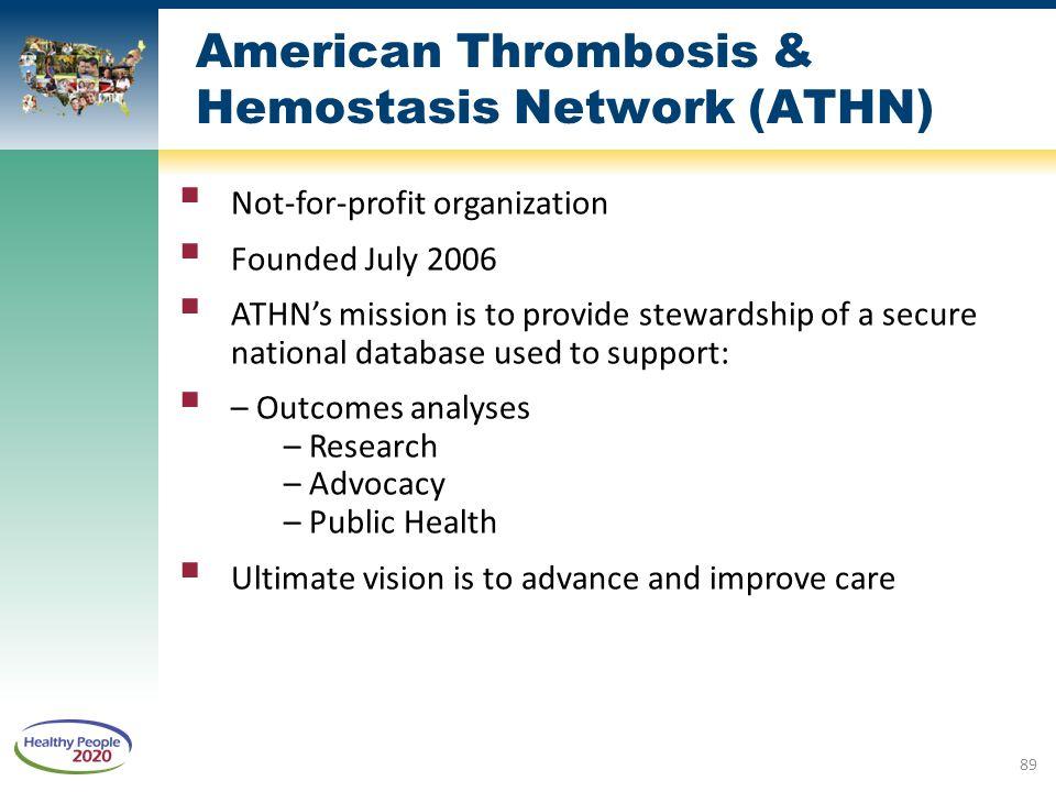 American Thrombosis & Hemostasis Network (ATHN)