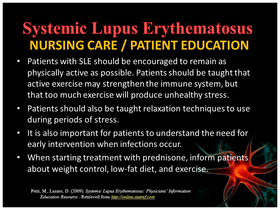Treating infection systemic lupus erythematosus