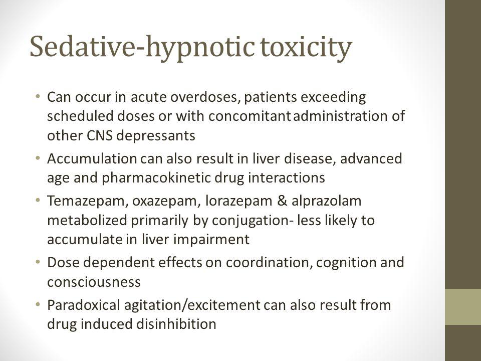 Sedative-hypnotic toxicity