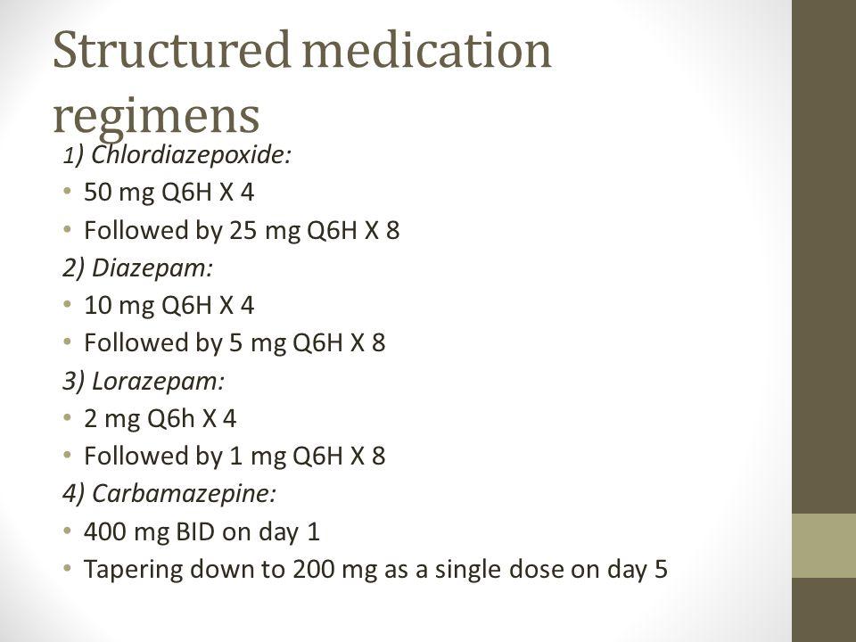 Structured medication regimens