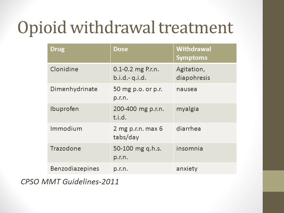 Opioid withdrawal treatment