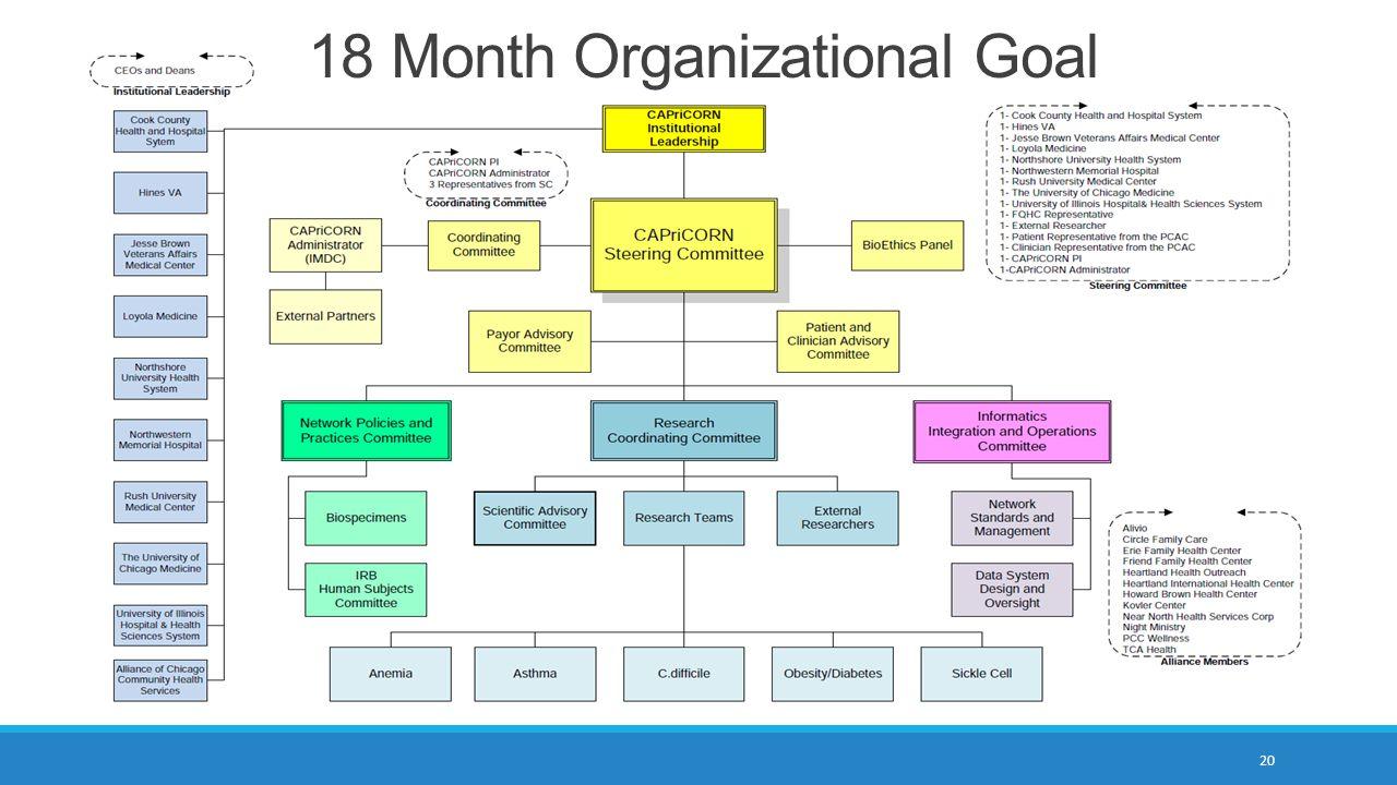 18 Month Organizational Goal