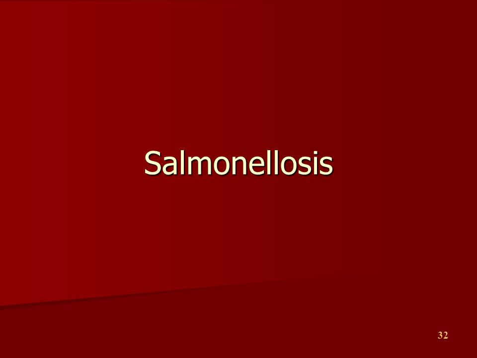 Salmonellosis