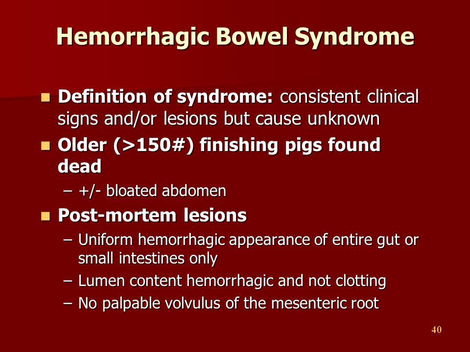 Hemorrhagic Bowel Syndrome