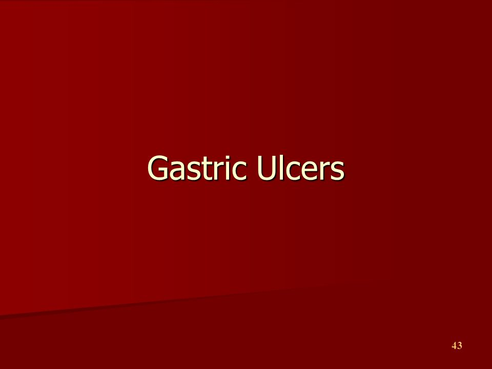 Gastric Ulcers