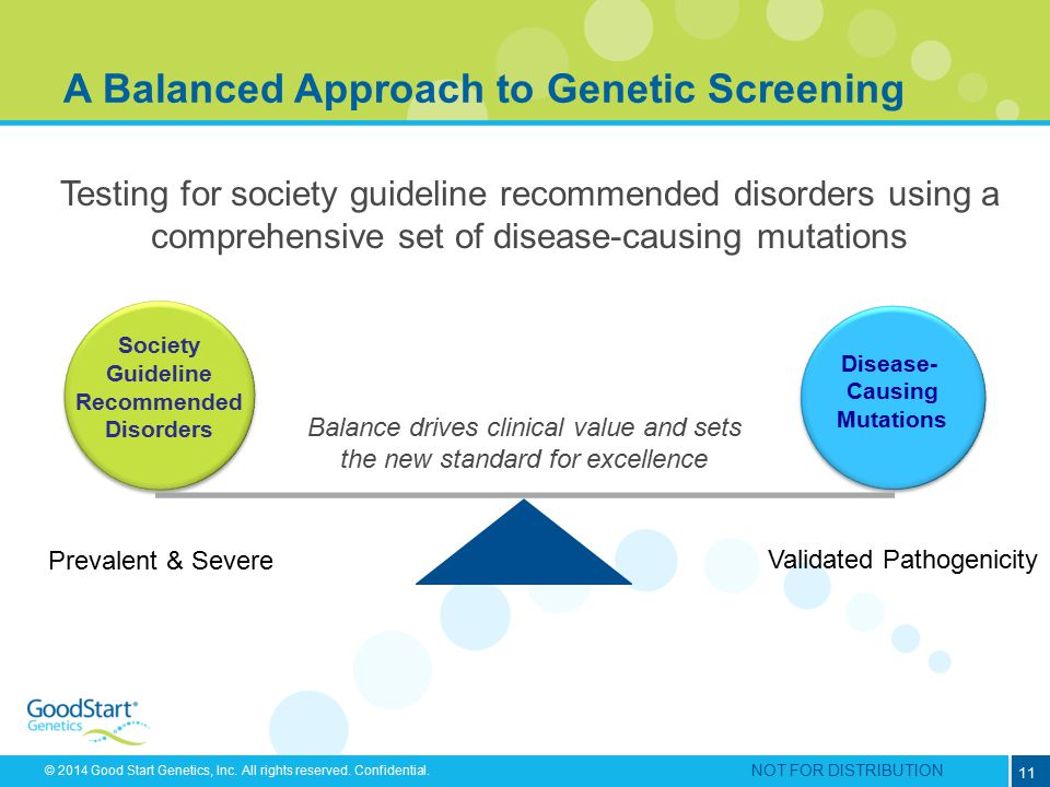 A Balanced Approach to Genetic Screening