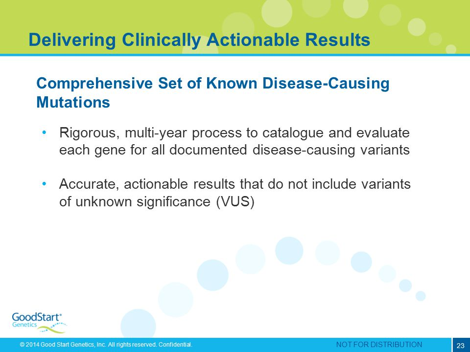 Delivering Clinically Actionable Results