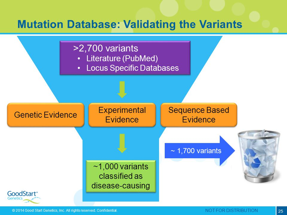 Mutation Database: Validating the Variants