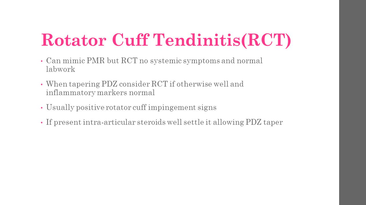 Rotator Cuff Tendinitis(RCT)