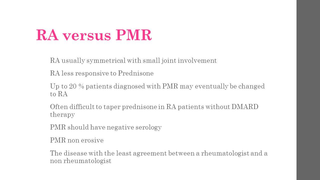 RA versus PMR