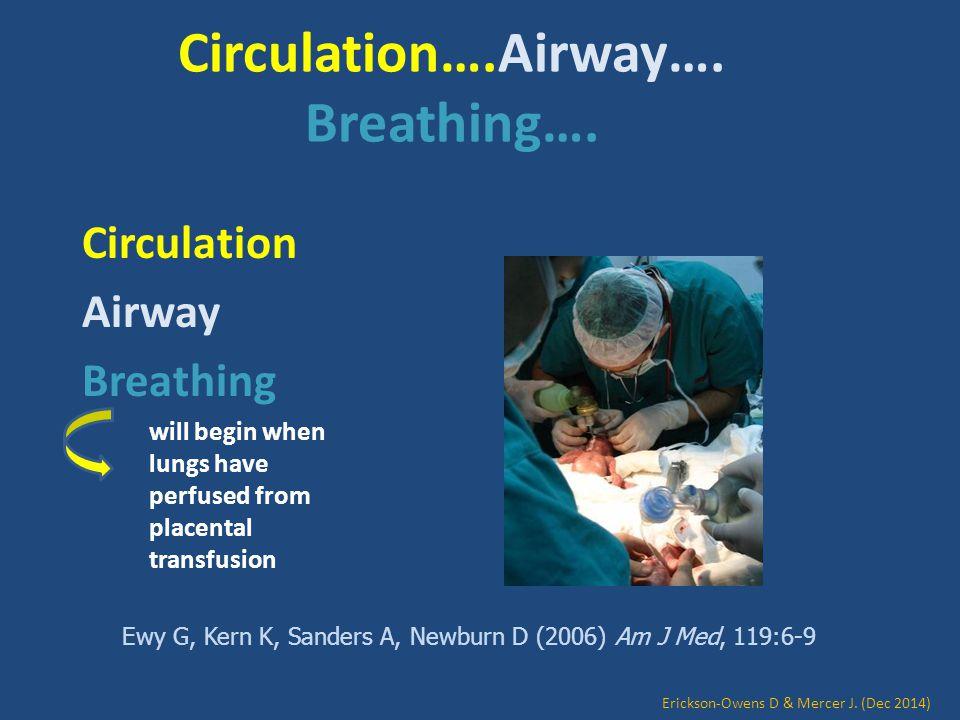 Circulation….Airway…. Breathing….
