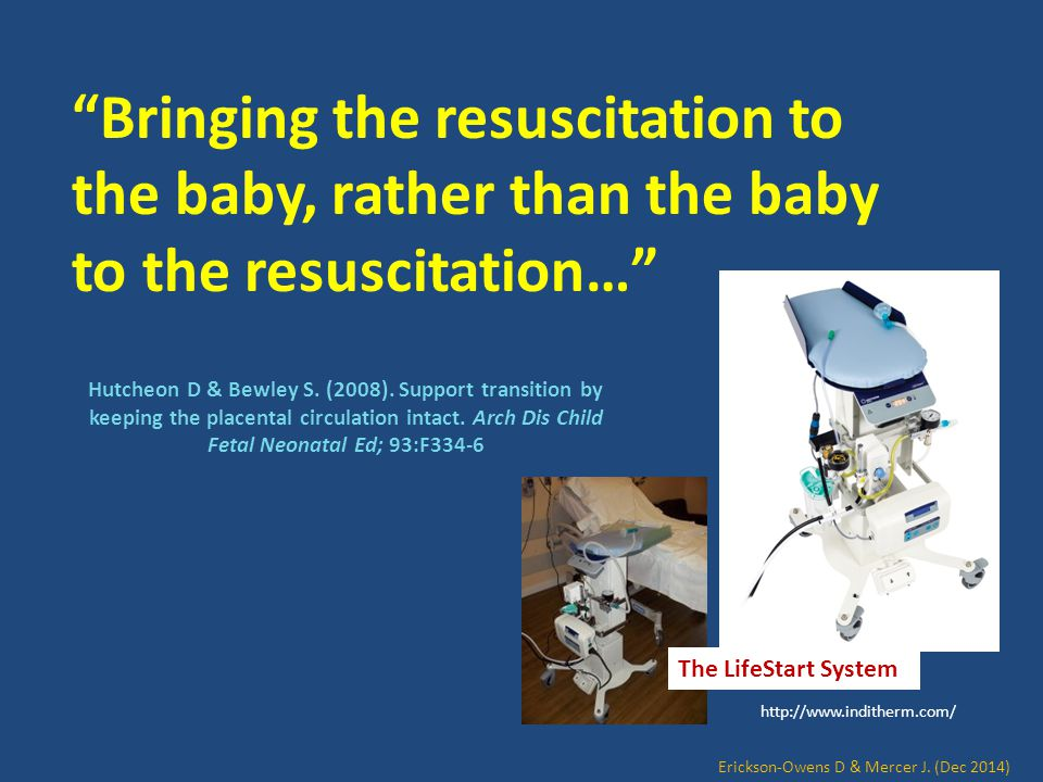 Bringing the resuscitation to the baby, rather than the baby to the resuscitation…