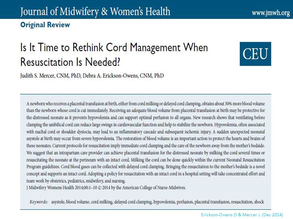 This review article is in the JMWH Nov/Dec 2014 issue