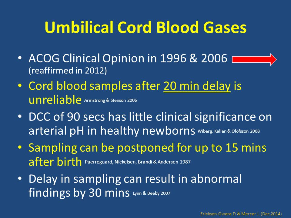 Umbilical Cord Blood Gases