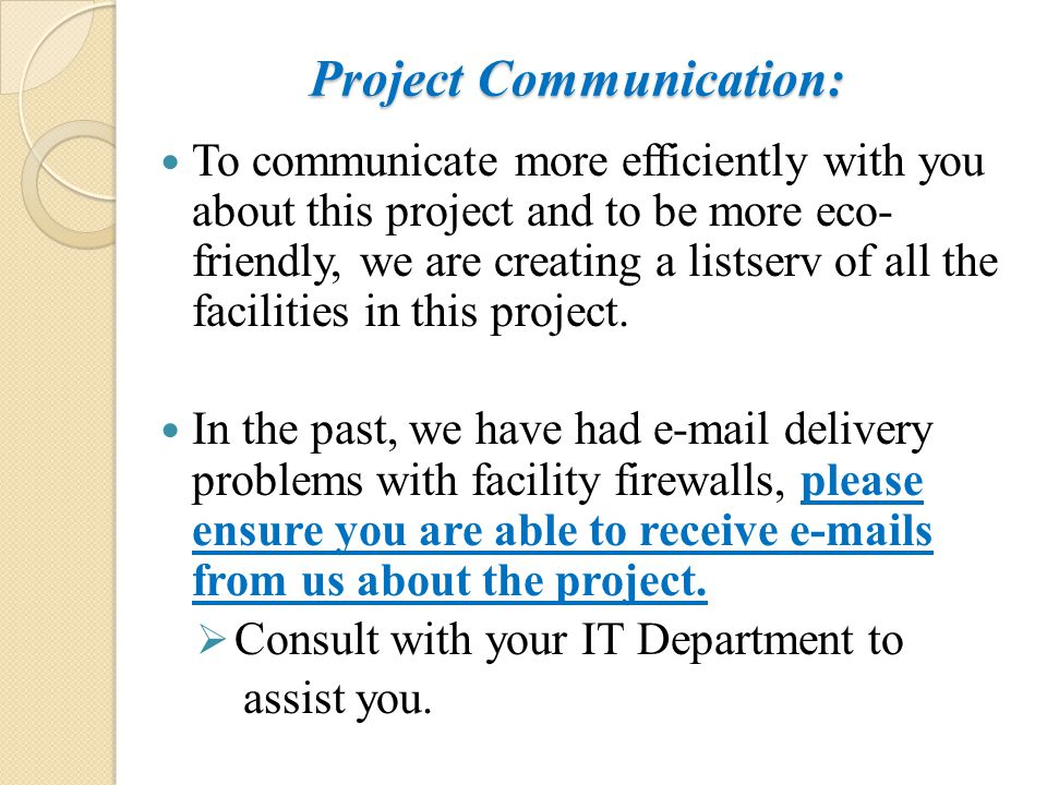 Project Communication: