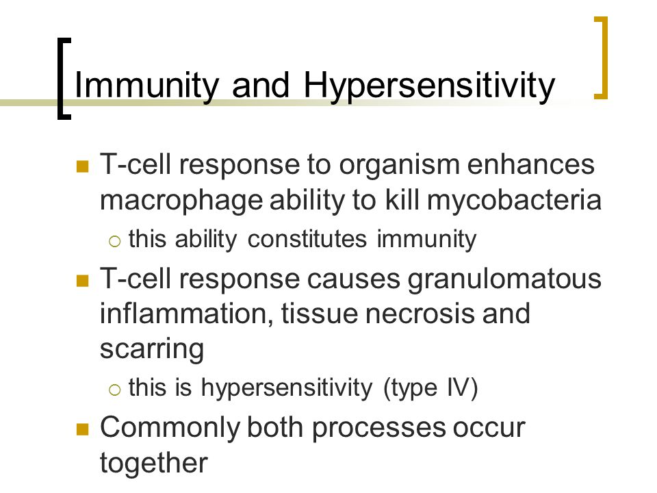 Immunity and Hypersensitivity