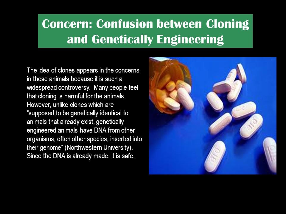 Concern: Confusion between Cloning and Genetically Engineering
