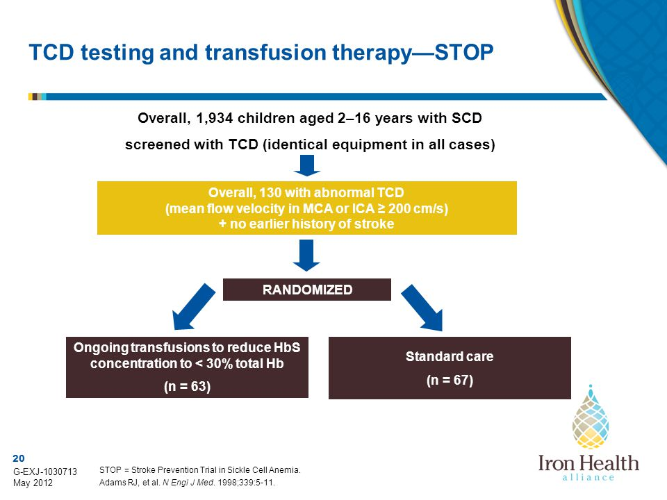 TCD testing and transfusion therapy—STOP