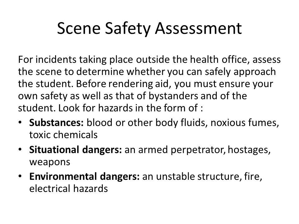 Scene Safety Assessment