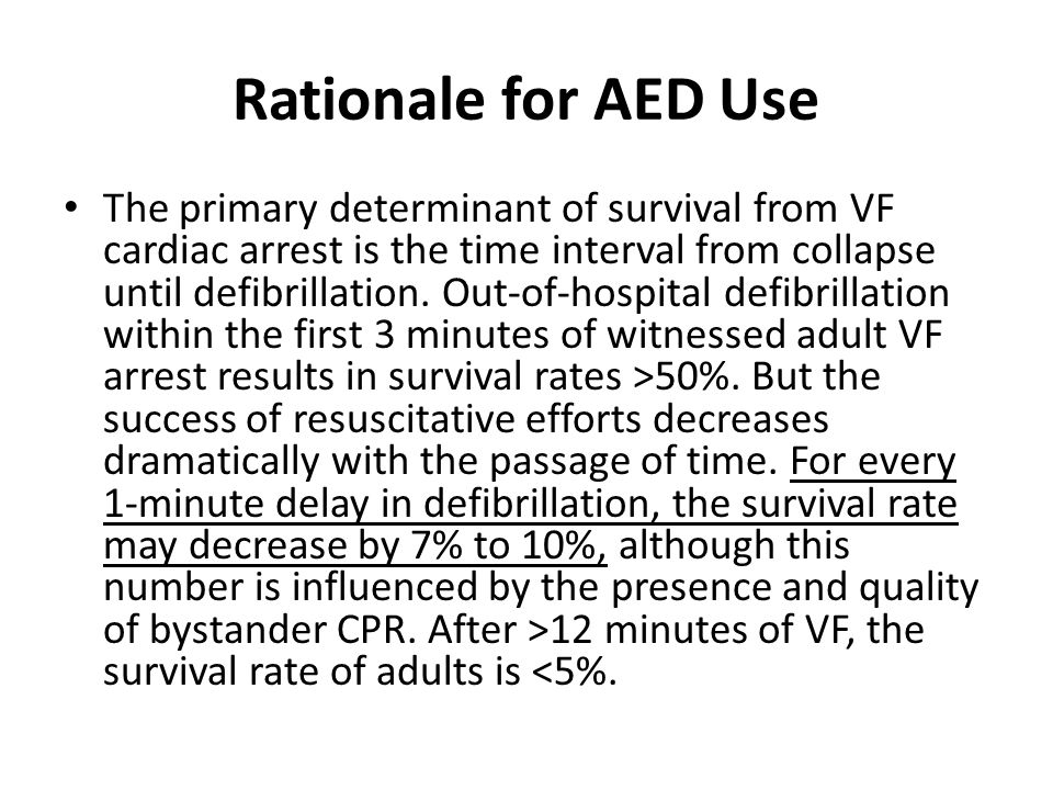 Rationale for AED Use