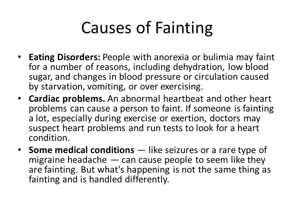 Causes of Fainting