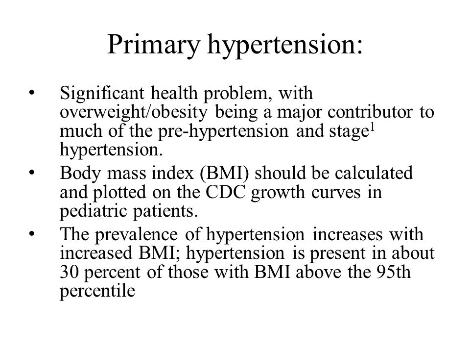 Primary hypertension: