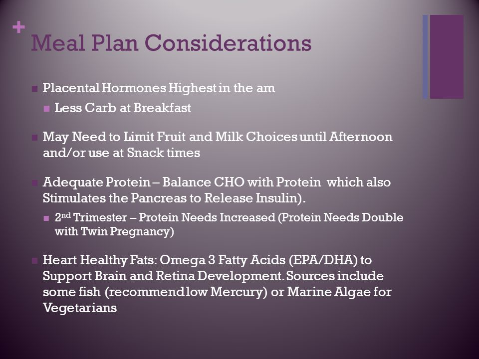 Meal Plan Considerations