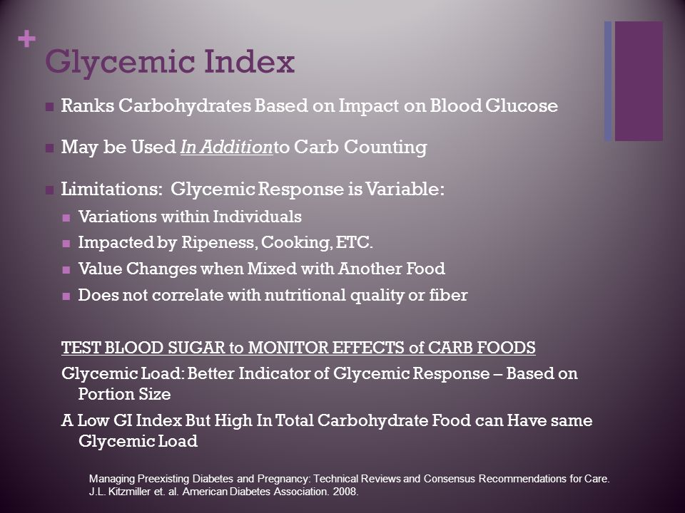 Glycemic Index Ranks Carbohydrates Based on Impact on Blood Glucose