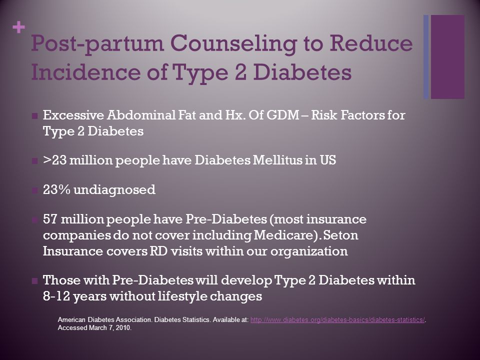 Post-partum Counseling to Reduce Incidence of Type 2 Diabetes