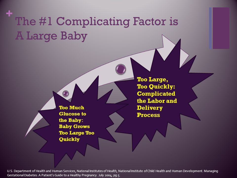 The #1 Complicating Factor is A Large Baby