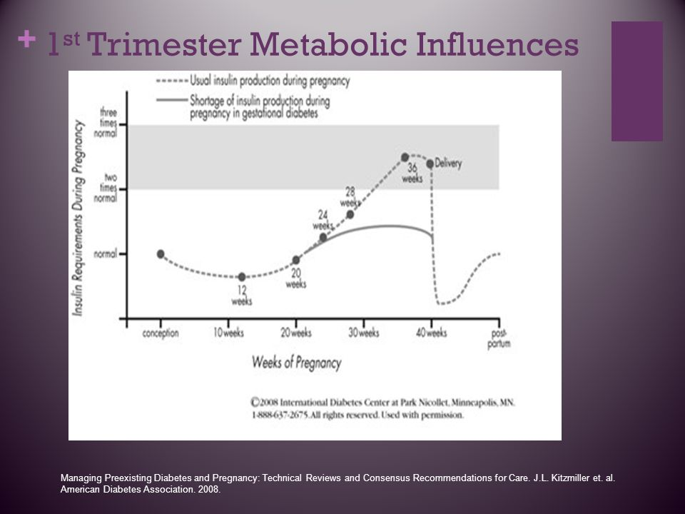 1st Trimester Metabolic Influences