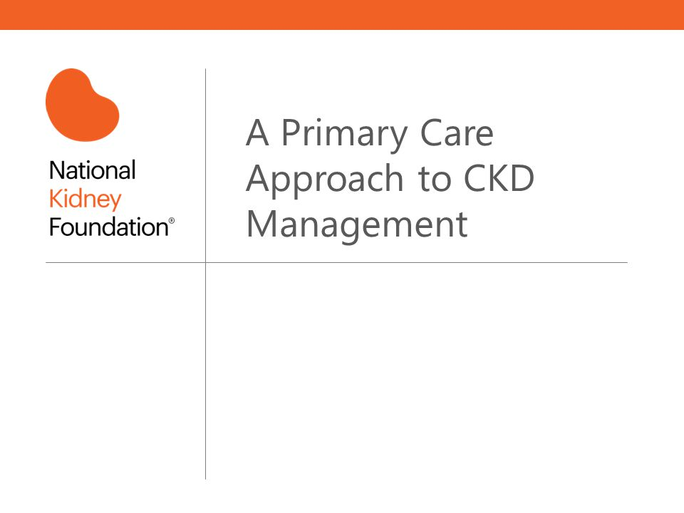 A Primary Care Approach to CKD Management