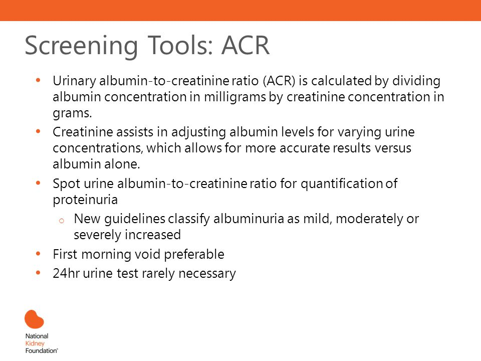 Screening Tools: ACR
