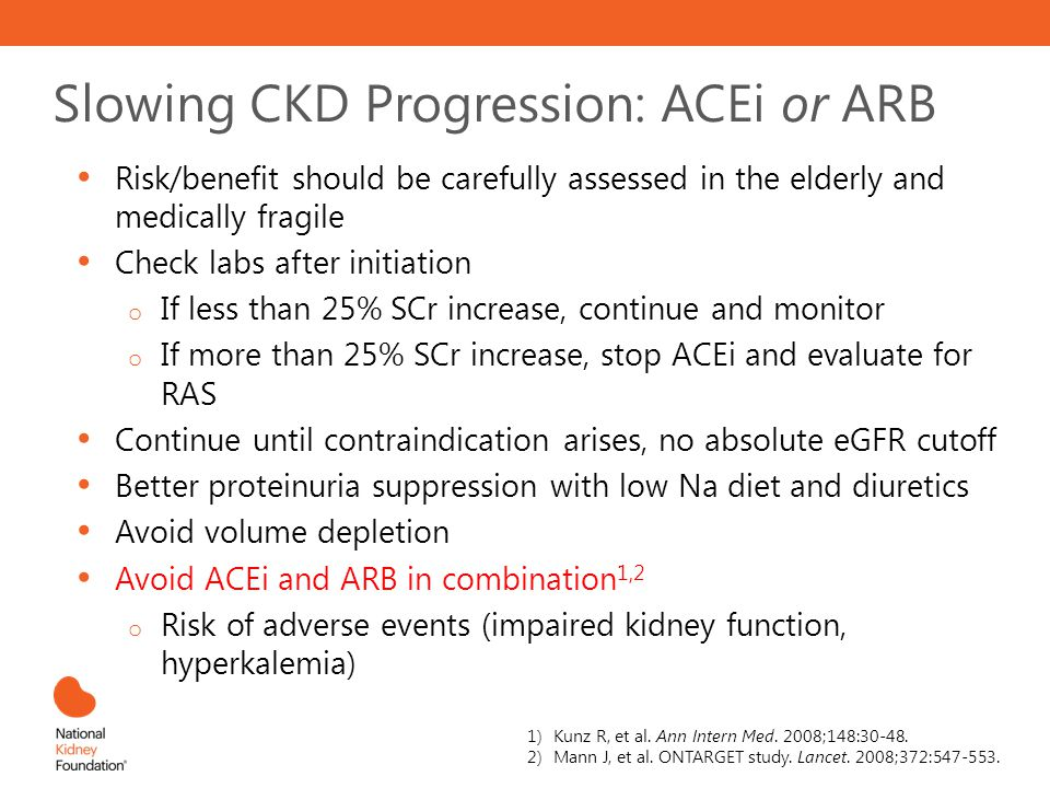 Slowing CKD Progression: ACEi or ARB