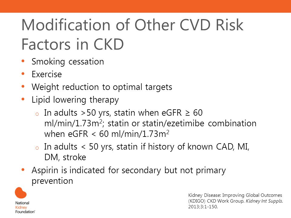 Modification of Other CVD Risk Factors in CKD