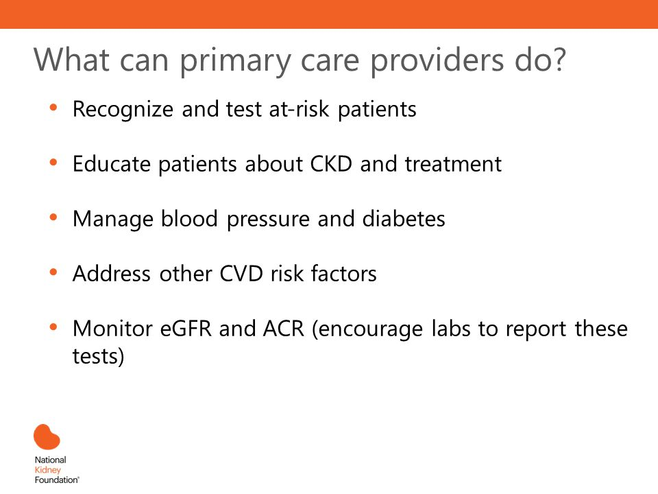 What can primary care providers do