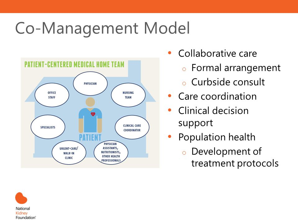 Co-Management Model Collaborative care Formal arrangement
