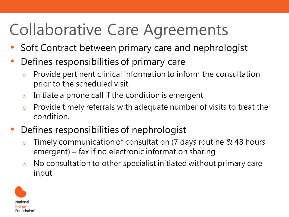 Collaborative Care Agreements
